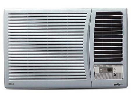 Air cool refrigeration for 12 inch high window air conditioner